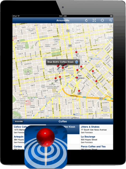 AroundMe iPad