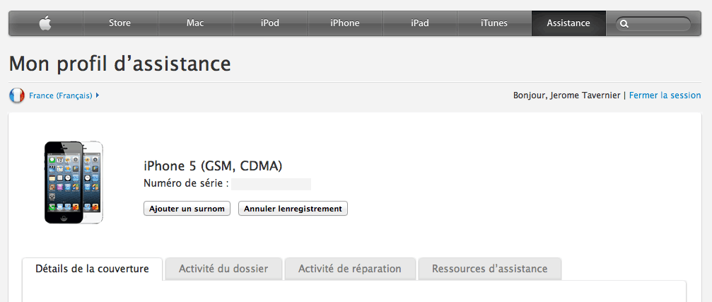 Annuler enregistrement iPhone Apple ID