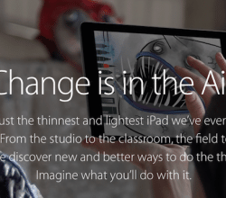 iPad Air 2 Change is in the air