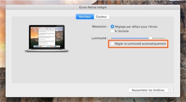 macbook-luminosité-configuration-preferences