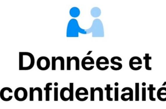 donnees confidentialites ios
