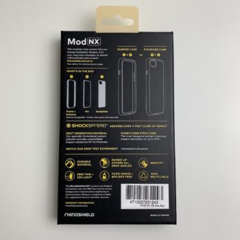 Mod NX iPhone X Frenchmac packaging arrière