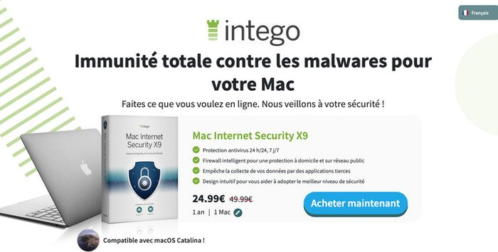 Intego Mac Internet Security X9 réduction