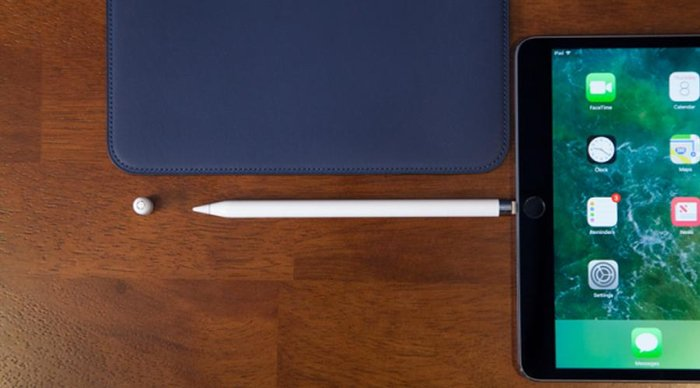 Mise en charge de l'Apple Pencil sur un iPad