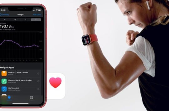 iphone apple watch sante exercice activite