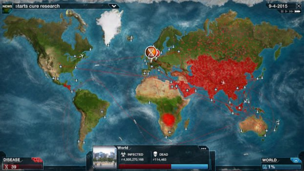 Plague inc jeu iOS
