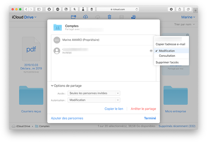 icloud com edition personnes partager dossier icloud