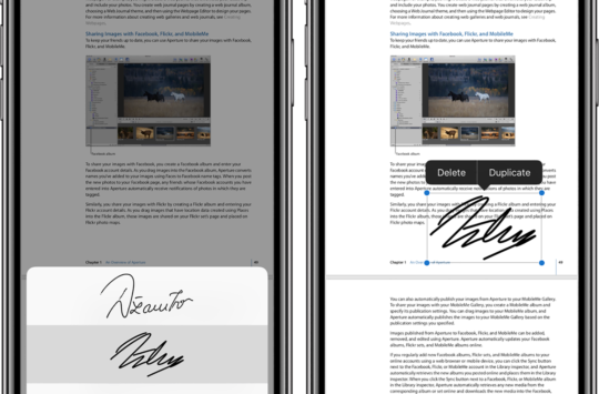 iphone fichiers annoter signature