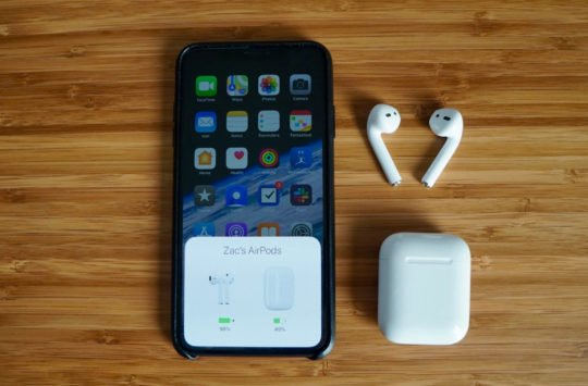 airpods batterie iphone