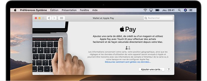 mac ajout carte apple pay