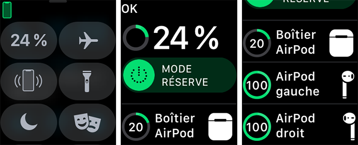 apple watch batterie airpods