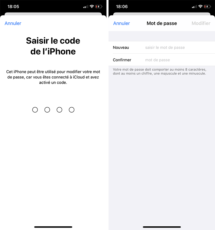 iphone changer mdp apple id