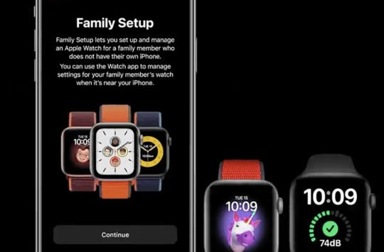 configuration familiale apple watch