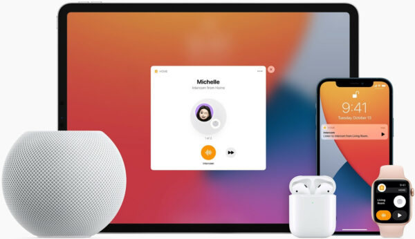 interphone idevices ipad homepod mini iphone airpods apple watch
